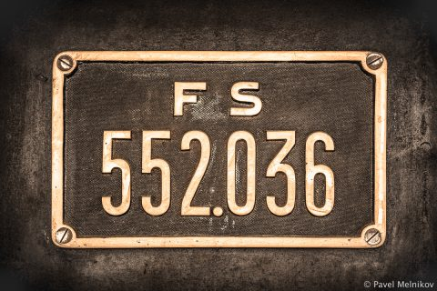 Name Plate of the FS 552.036 Locomotive